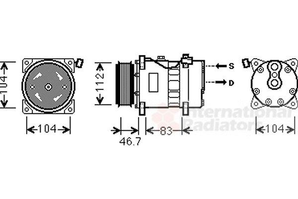 Compresseur, climatisation - VWA - 88VWA5800K288