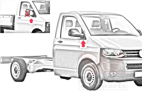 Rétroviseur extérieur - VAN WEZEL - 5896807