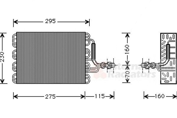 Evaporateur climatisation - VAN WEZEL - 5800V016