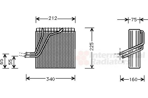 Evaporateur climatisation - VAN WEZEL - 5800V030
