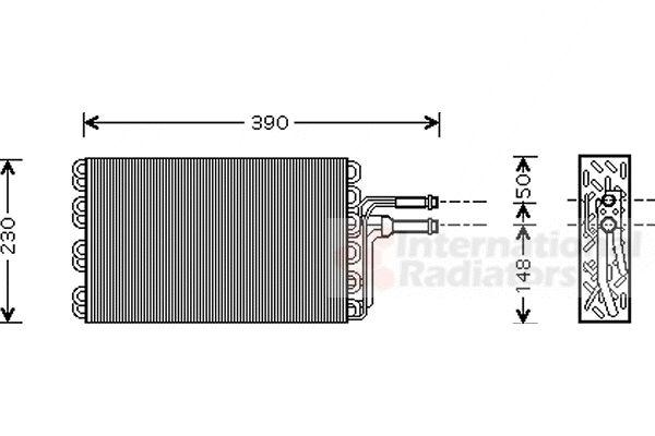 Evaporateur climatisation - VAN WEZEL - 5800V185