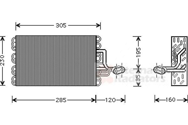 Evaporateur climatisation - VAN WEZEL - 5800V186
