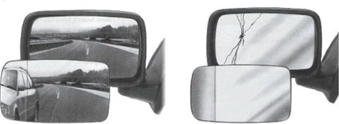 Verre de rétroviseur, rétroviseur extérieur - VAN WEZEL - 7266