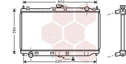 Radiateur, refroidissement du moteur - VAN WEZEL - 27002138