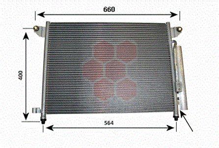 Condenseur, climatisation - VAN WEZEL - 81005061