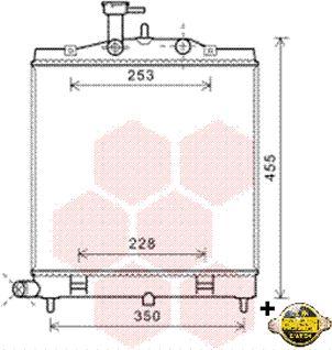 Radiateur, refroidissement du moteur - VAN WEZEL - 83002172