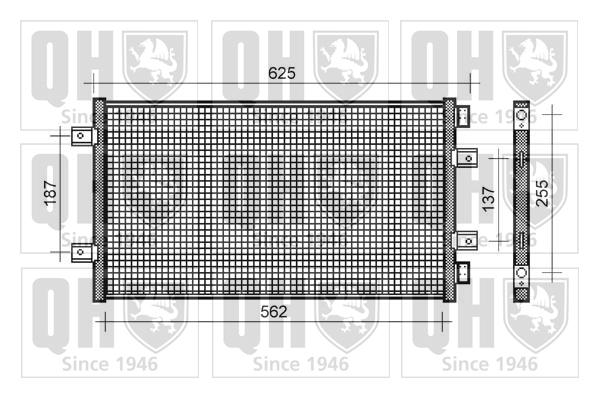 Condenseur, climatisation - QUINTON HAZELL - QCN265