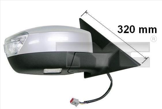 Rétroviseur extérieur - TYC - 310-0123