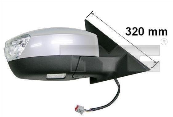 Rétroviseur extérieur - TYC - 310-0126