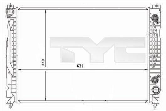 Radiateur, refroidissement du moteur - TYC - 702-0001
