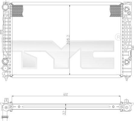 Radiateur, refroidissement du moteur - TYC - 702-0009