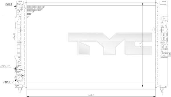 Radiateur, refroidissement du moteur - TYC - 702-0011