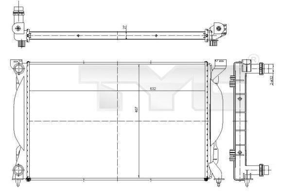 Radiateur, refroidissement du moteur - TCE - 99-702-0012