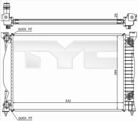 Radiateur, refroidissement du moteur - TYC - 702-0014