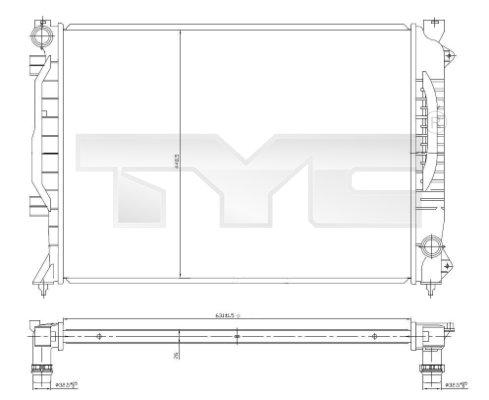 Radiateur, refroidissement du moteur - TYC - 702-0017