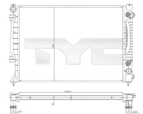 Radiateur, refroidissement du moteur - TYC - 702-0018