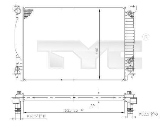 Radiateur, refroidissement du moteur - TYC - 702-0021