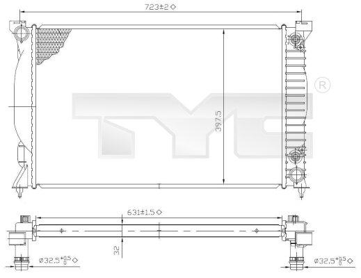 Radiateur, refroidissement du moteur - TYC - 702-0022