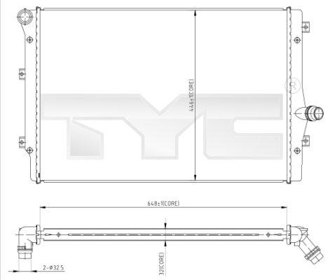 Radiateur, refroidissement du moteur - TYC - 702-0024