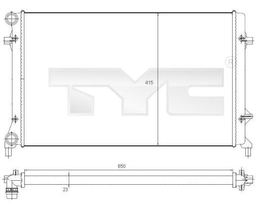 Radiateur, refroidissement du moteur - TYC - 702-0025