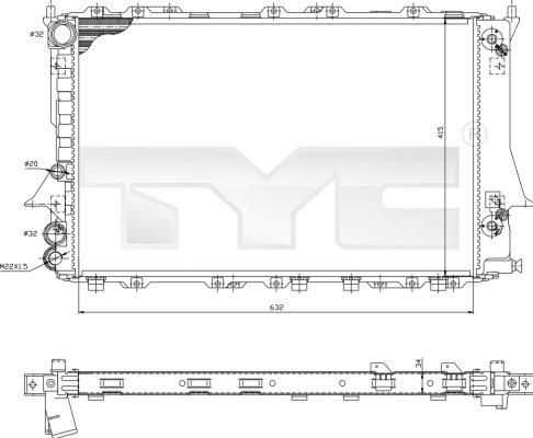 Radiateur, refroidissement du moteur - TYC - 702-0026-R