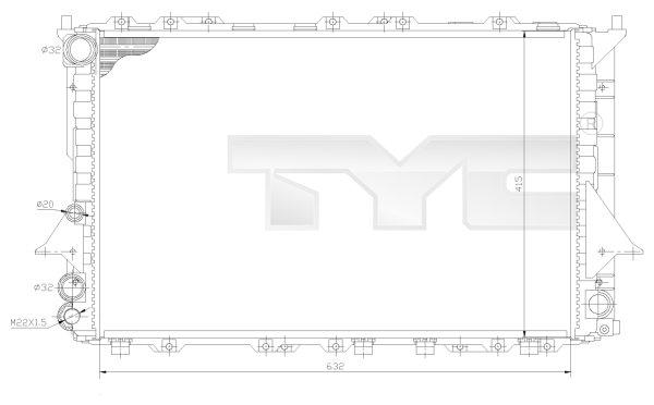 Radiateur, refroidissement du moteur - TCE - 99-702-0027