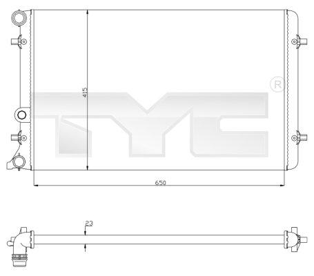 Radiateur, refroidissement du moteur - TYC - 702-0033