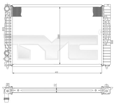 Radiateur, refroidissement du moteur - TYC - 702-0034