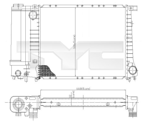 Radiateur, refroidissement du moteur - TCE - 99-703-0003