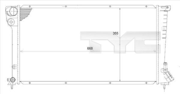 Radiateur, refroidissement du moteur - TYC - 705-0002