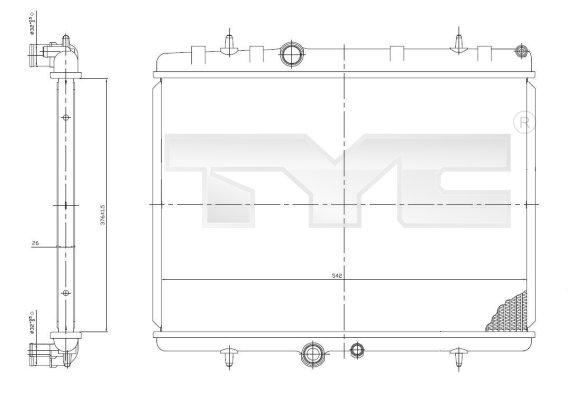 Radiateur, refroidissement du moteur - TCE - 99-705-0064