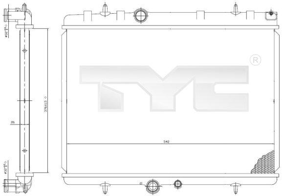Radiateur, refroidissement du moteur - TYC - 705-0065