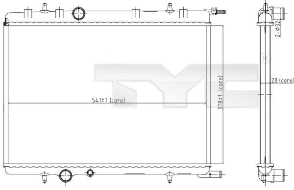 Radiateur, refroidissement du moteur - TYC - 705-0066