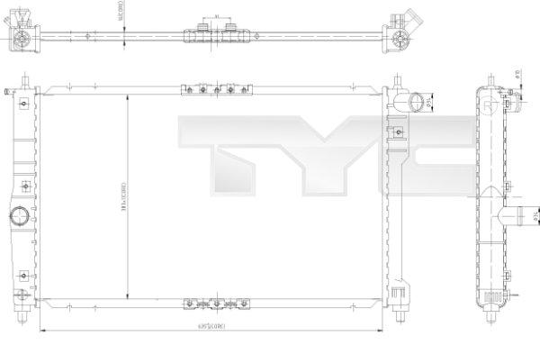 Radiateur, refroidissement du moteur - TYC - 706-0003