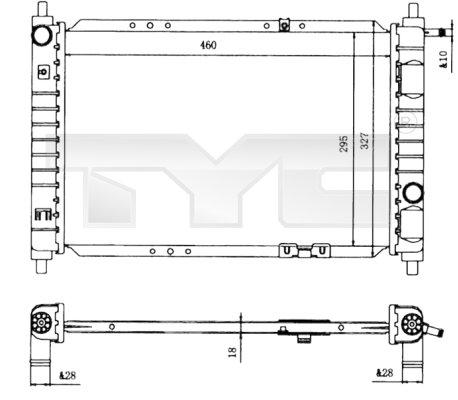 Radiateur, refroidissement du moteur - TYC - 706-0004