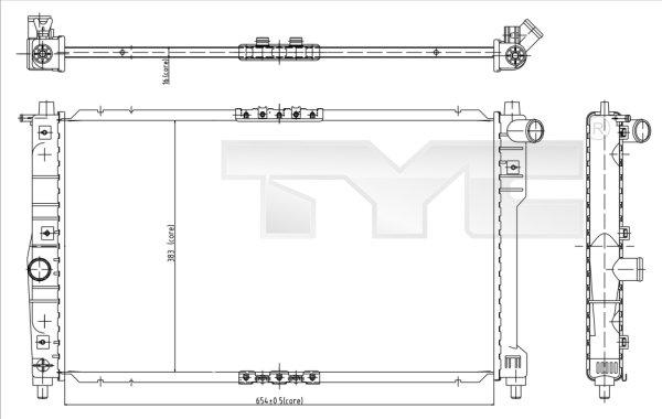 Radiateur, refroidissement du moteur - TYC - 706-0016