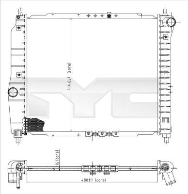 Radiateur, refroidissement du moteur - TYC - 706-0021