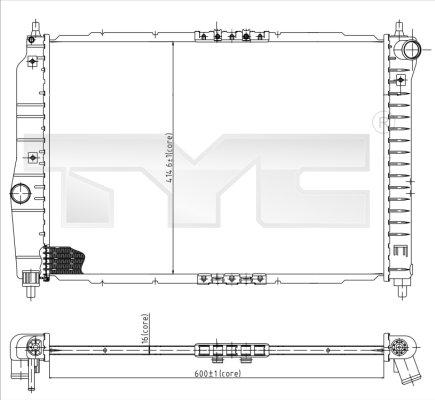 Radiateur, refroidissement du moteur - TYC - 706-0022