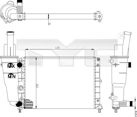Radiateur, refroidissement du moteur - TYC - 709-0004