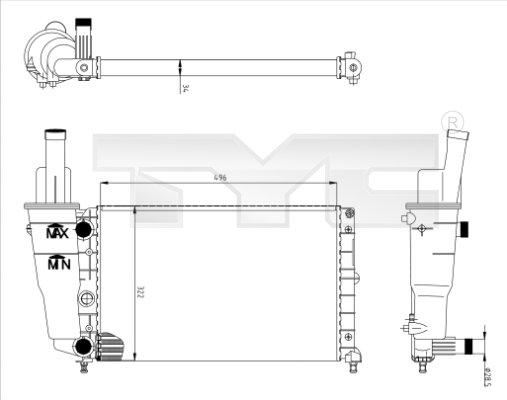 Radiateur, refroidissement du moteur - TYC - 709-0006
