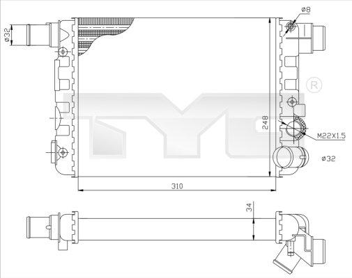 Radiateur, refroidissement du moteur - TYC - 709-0009