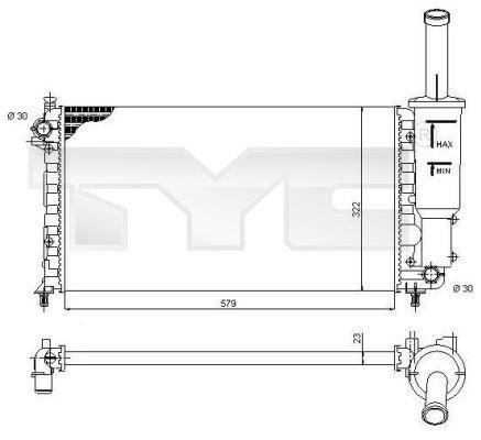 Radiateur, refroidissement du moteur - TYC - 709-0013
