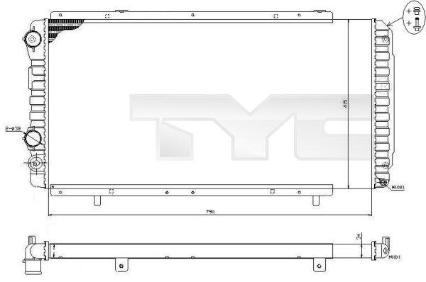 Radiateur, refroidissement du moteur - TYC - 709-0014-R