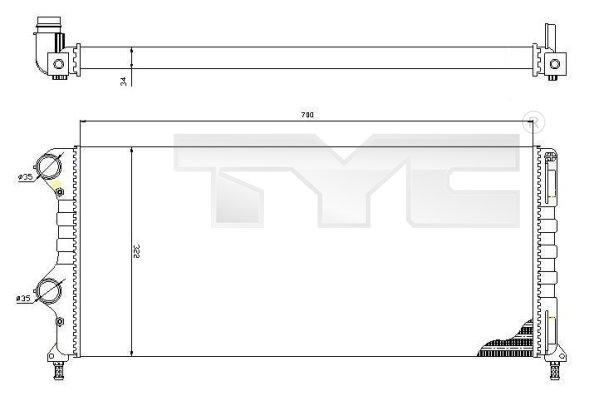 Radiateur, refroidissement du moteur - TCE - 99-709-0015-R