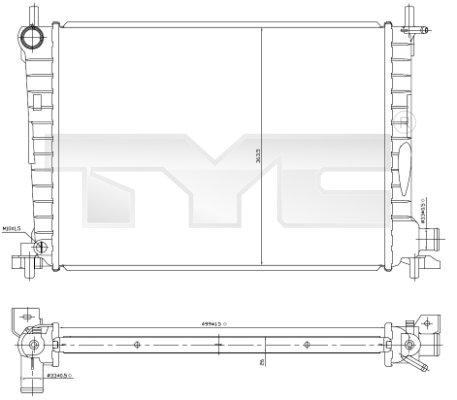 Radiateur, refroidissement du moteur - TCE - 99-710-0027