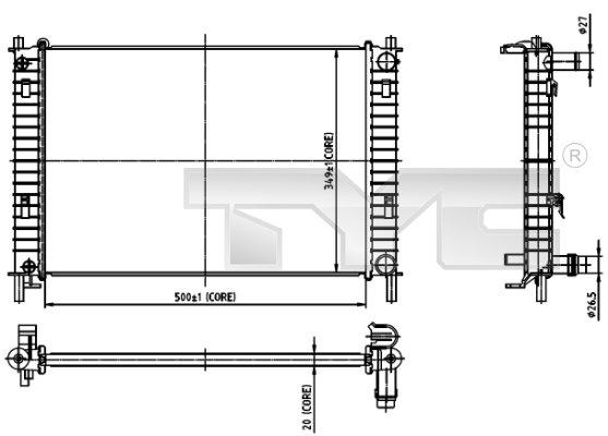 Radiateur, refroidissement du moteur - TCE - 99-710-0030
