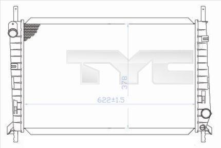 Radiateur, refroidissement du moteur - TYC - 710-0032