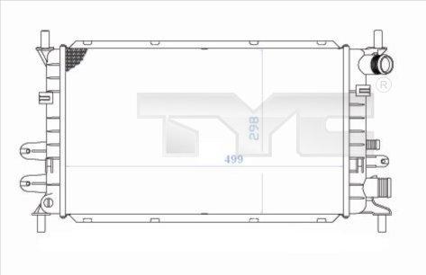 Radiateur, refroidissement du moteur - TYC - 710-0033