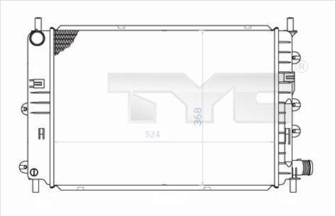 Radiateur, refroidissement du moteur - TYC - 710-0034