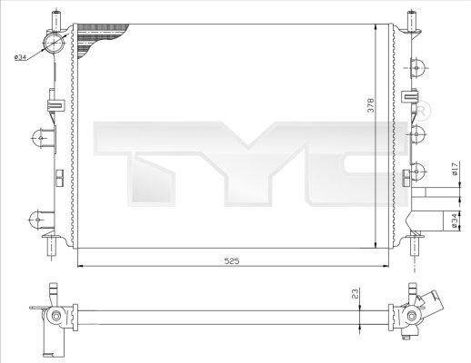 Radiateur, refroidissement du moteur - TYC - 710-0037-R